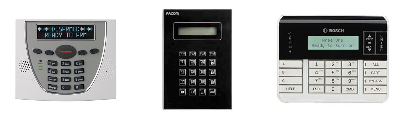 Burglar Alarm System Keypads