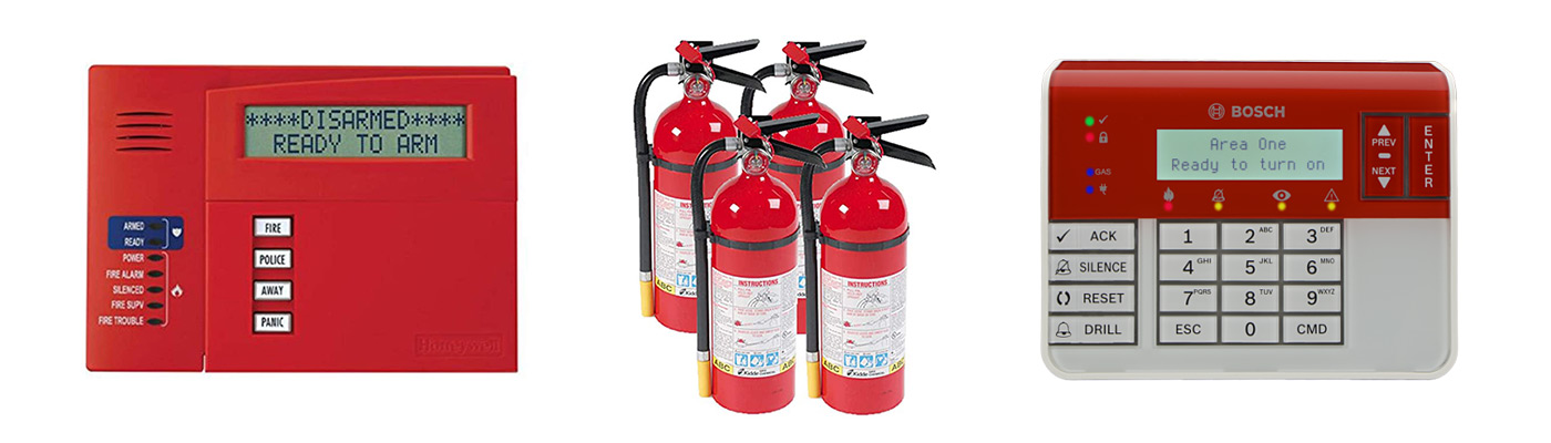 Fire Alarm Keypads and Extinguishers