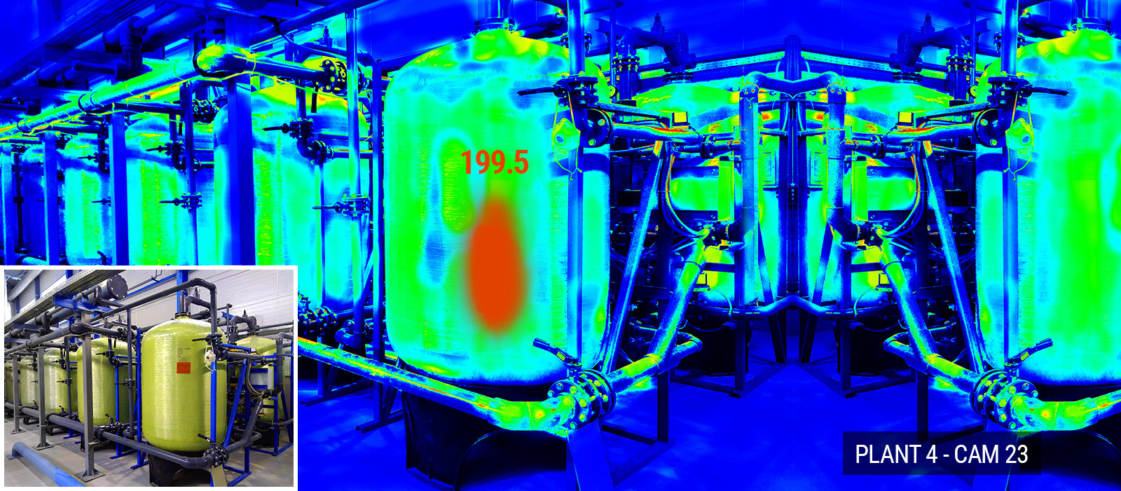 Thermal Imaging - Tanks in a Plant